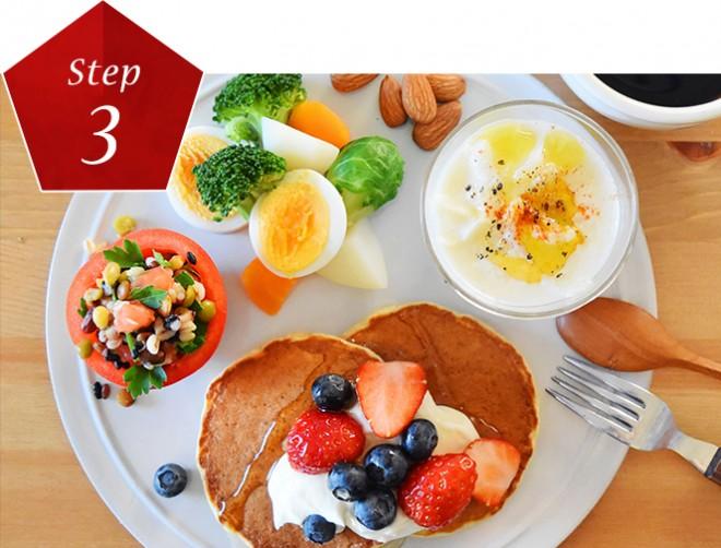 <b>心・食・体のトータルケア</b><br>「SK-II Challenge」特設サイトでは、心の在り方のアドバイス、美肌のための朝食ワンプレート、デトックスエクササイズを紹介。一流の専門家による心・食・体のトータルケアで美肌を目指します。