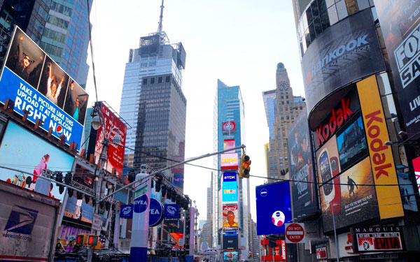 ニューヨーク、タイムズスクエアの景色