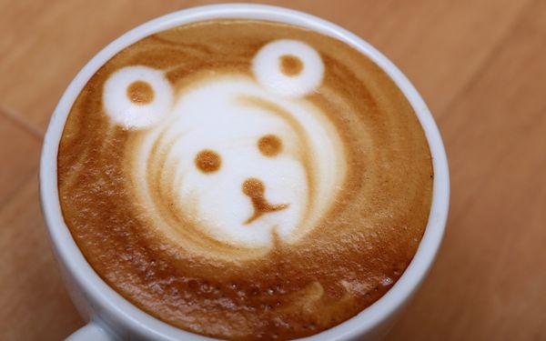 クマのラテアート