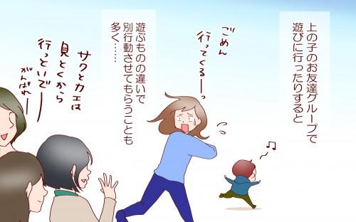 上の子のお友だちグループで遊びに行くと別行動になることも多い