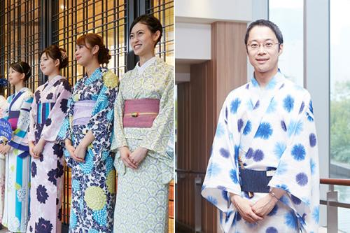 写真右)銀座三越・呉服バイヤーの浅子堅一郎さん