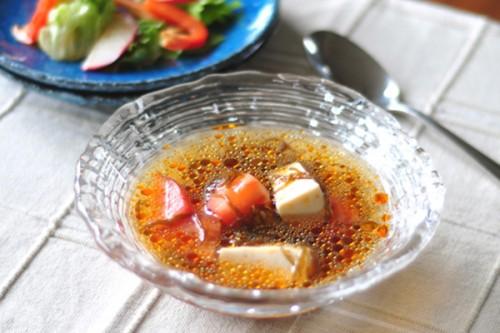 サムネイル 市販のもずく酢で簡単に! 「混ぜるだけサンラータン」