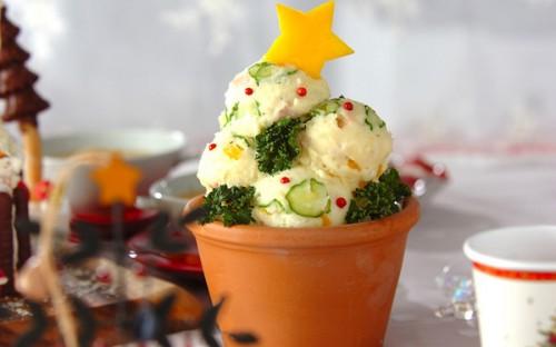 華やかでキュート! クリスマスツリーポテトサラダ