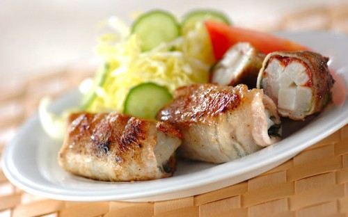 長芋のサクサク食感がたまらない、爽やかな味わいの「豚肉ロール」