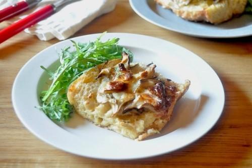 サムネイル 残った生クリームでワンランクアップのパン料理「舞茸のパンベルデュ・サレ」