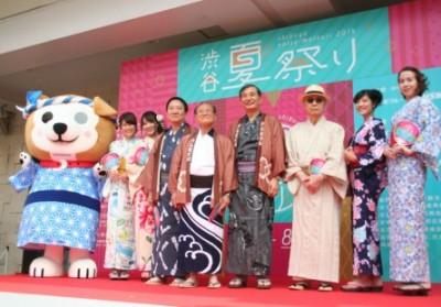 東横ハチ公も応援に駆けつけた「渋谷ゆかたコレクション」