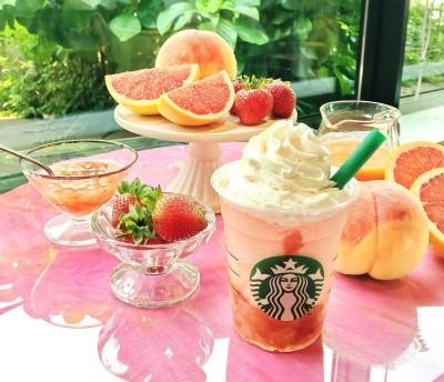 『ピーチ ピンク フルーツ フラペチーノ』(Tallのみ税抜620円)