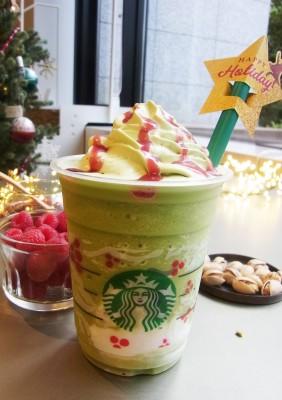 『ピスタチオ クリスマス ツリー フラペチーノ』(Tallサイズのみ ¥590)