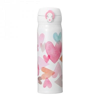 バレンタイン2019ハンディーステンレスボトルホワイト500ml(¥4,400)