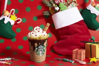 【12月4日発売】『サンタブーツ チョコレート フラペチーノ』(Tallサイズのみ \690)