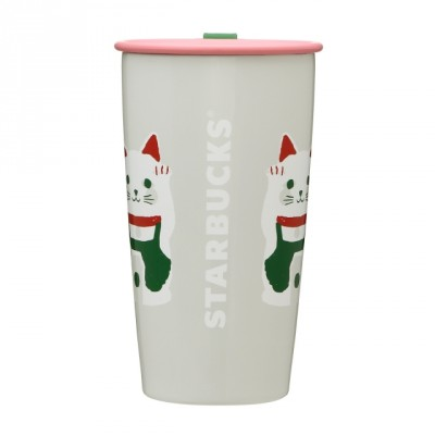 ステンレスカップシェイプボトル招き猫355ml(¥3,800)