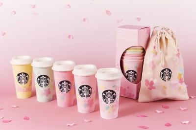 ピンク系3色とブルー、イエローの淡いカラーリングがきれいな5個セットなどラインナップ