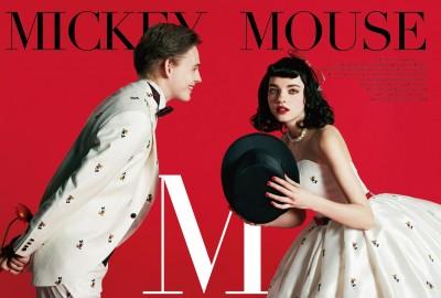 「ミッキーマウス」をモチーフにしたタキシード&ウエディングドレス/ディズニーコレクション第2弾