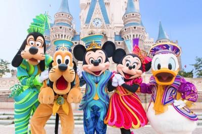 """東京ディズニーリゾート35周年""""Happiest Celebration!""""グーフィー&プルート&ミッキーマウス&ミニーマウス&ドナルドダック"""