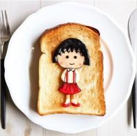 【ちびまるこちゃんトースト】制作&写真/Nayoko