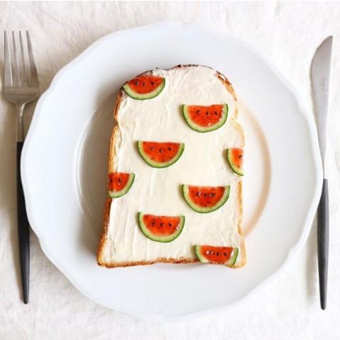 サムネイル 人気デリスタグラマー・Nayokoさんのトーストアート名品ギャラリー