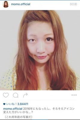 半顔メイク披露当時の桃さん