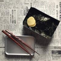 「なにもない。そんな時は海苔弁。昭和の時代は海苔(だけ)弁も普通。当たり前」制作&写真/bento_shimadaya
