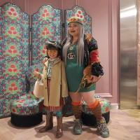 GUCCI青山店リニューアルパーティーにて渡辺直美と肩を並べるCOCO