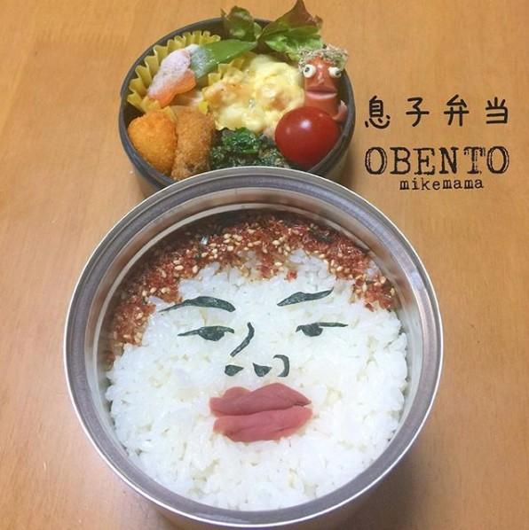 息子さんに雰囲気が似てるという顔弁。制作&写真/Miyuki(@mike203mama)