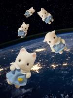 宇宙遊泳するシルバニアの赤ちゃんたち