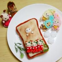 こんなかわいい朝食食べられない…(画像提供:ひよこさん)