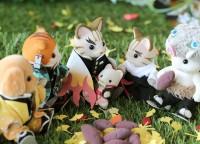 煉獄さんを囲んだ焼き芋パーティー(2/3)(画像提供:らぐどーるさん)