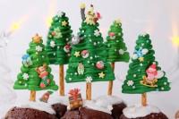 ポケモンたちのクリスマスツリーカップケーキ(画像提供:まんなたぬきさん)