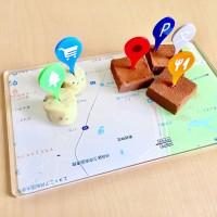 Googleマップの地図とアイコンの食品ピック(画像提供:ZOKUZOKUさん)