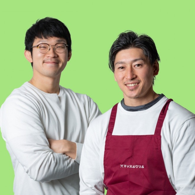 マッスルグリルのお二人 料理だけでなくお二人の掛け合いも人気の一つ。