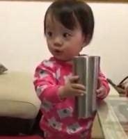 おとぼけ演技と爆笑を繰り返す当時1歳のゆうひちゃん動画カット