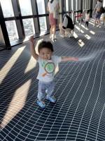 初めての東京タワー展望台到着!