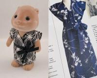 「ファッションインジャパンで見た花森安治の直線裁ちのワンピースをイメージして作りました」