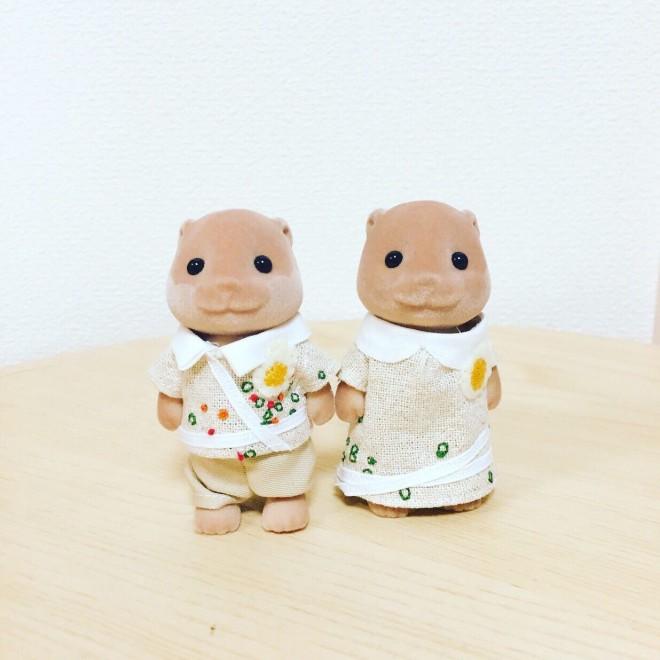 香川旅行でインスパイアを受けて制作したうどんファッション 画像提供:カワウソ(@8sh0)