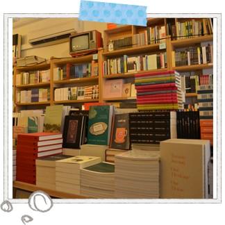 さまざまな店が立ち並ぶティオン・バルのオシャレな本屋さん「ブックス・アクチュアリー」。