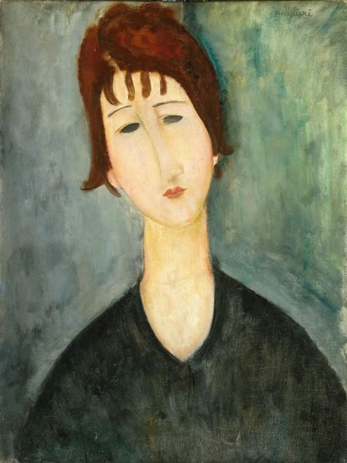 アメデオ・モディリアーニ「女の肖像」 1917〜1920年制作 City of Detroit Purchase