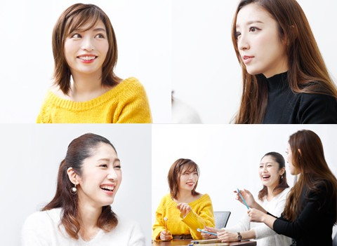 (写真右下・左から和希詩織さん、桜井有里さん、東條恭子さん)