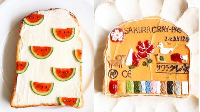 サムネイル スイカ柄にまさかの模写も…かわいすぎるトーストアートがSNSで話題「手軽さも魅力」