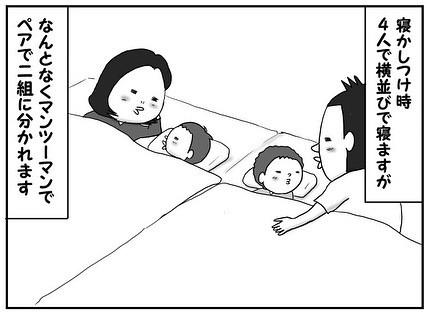 サムネイル 男目線で描く双子男児の笑える成長記、パパとママどっちと寝る問題の結末は…