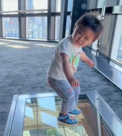 サムネイル 【天使キッズ】初めての東京タワーの高さにフリーズする1才男の子に800万再生「やりやがったなみたいな顔してる」