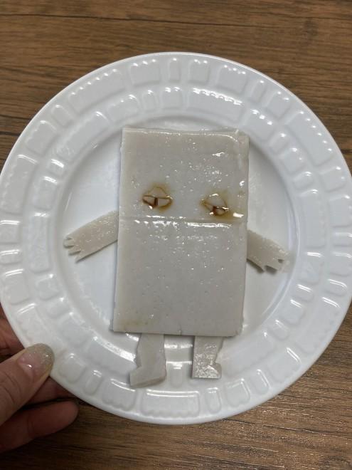友人の子どものために作ったのにあまり喜ばれなかったぬりかべ風葛餅(画像提供:関口かんこさん)